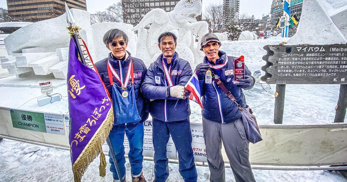 เบื้องหลัง นักแกะสลักหิมะ สัญชาติไทย