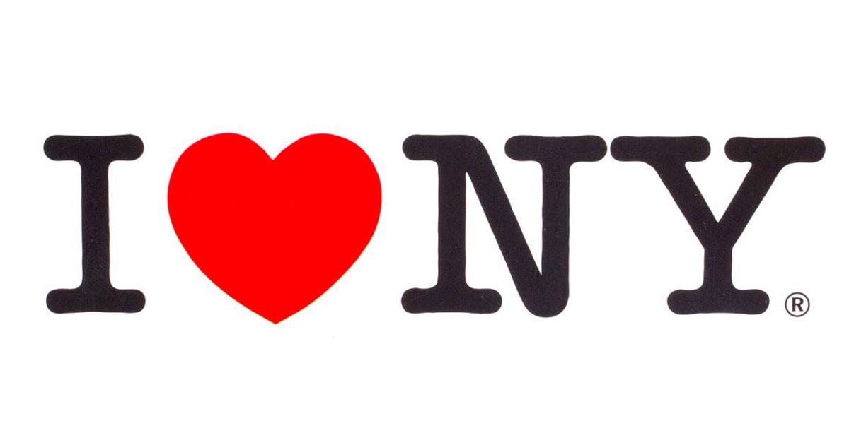 ถอดรหัสดีไซน์ I ♥ NY ฉันรักนิวยอร์ก เพื่อการท่องเที่ยวนิวยอร์ก