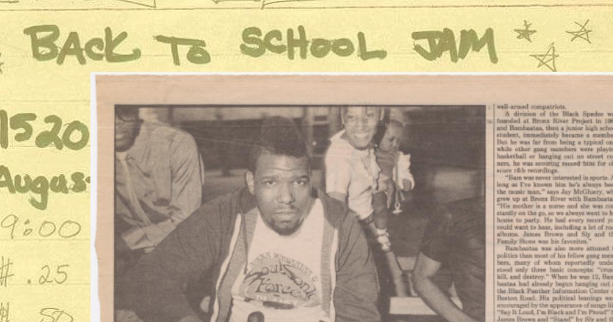 ฮิปฮอป เบรกบีต เกิดขึ้นครั้งแรกในปาร์ตี้วันเกิด Back to School Jam