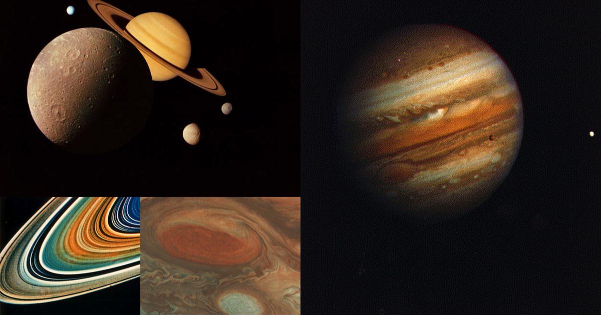 เปิดภาพถ่าย ดาวเสาร์ ดาวพฤหัสบดี ยุคบุกเบิกอวกาศ โดยยาน Voyager