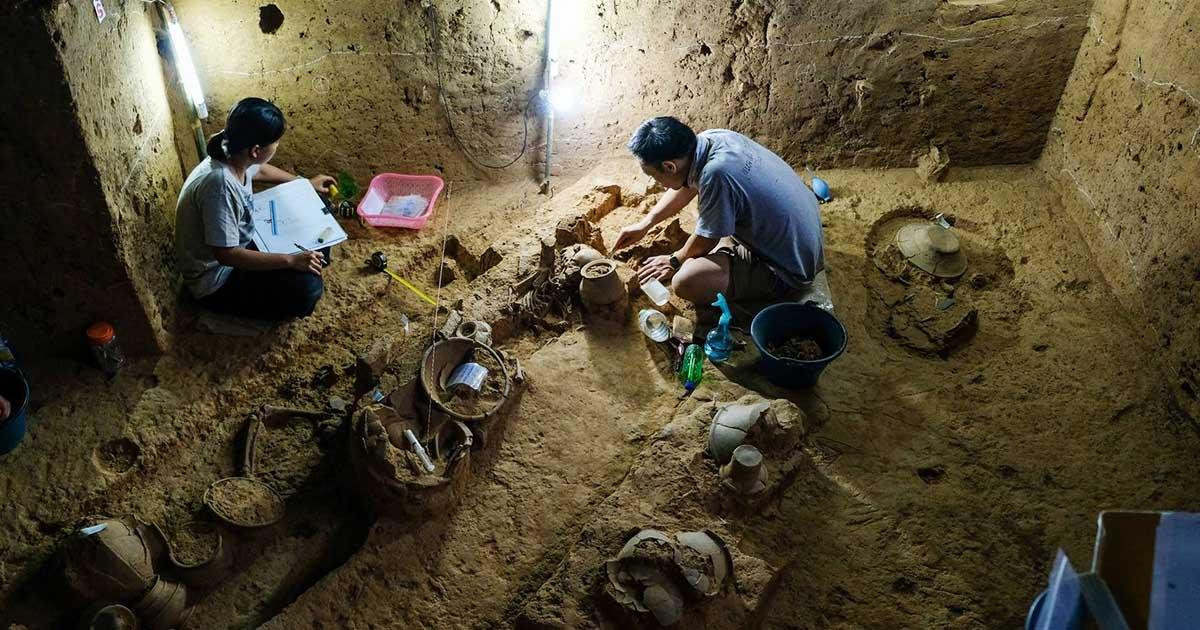 เตรียมแผนเปิด แหล่งโบราณคดีโรงเรียนวัดท่าโป๊ะ Site Museum หลุมฝังศพสมัยสำริดอายุ 3,000 ปี