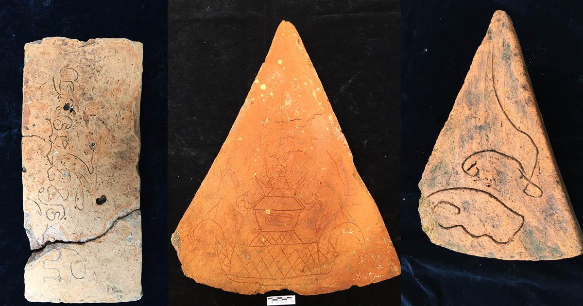 พบ จารึกโบราณ บนแผ่นอิฐ วัดส้มสุก วัดที่มีจารึกมากที่สุดในไทยกว่า 200 ชิ้น