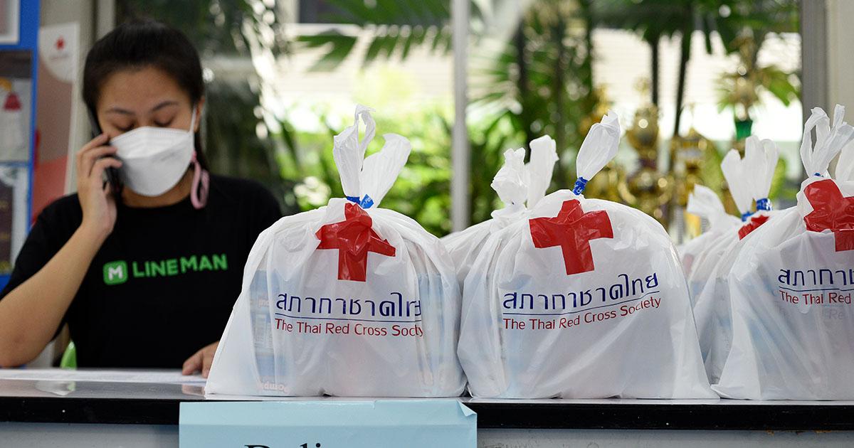 สภากาชาดไทย x LINE MAN Wongnai เสริมทัพ Rider ใช้ความไวหนุนการจัดส่งยาในระบบ Home Isolation